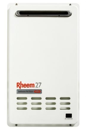 Rheem 27 Continuous Flow Gas Hot Water Heater